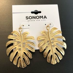 Sonoma Gold Palm Leaf Earrings